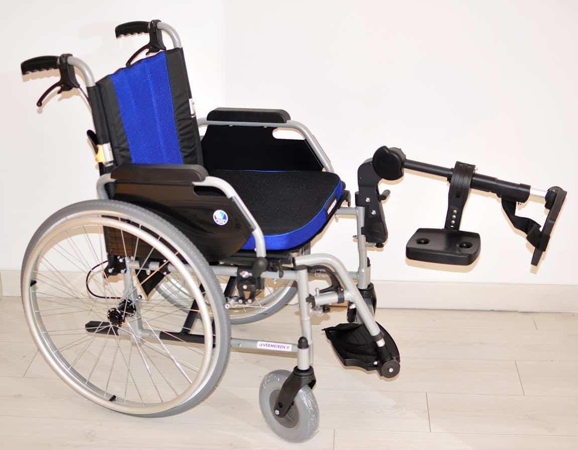 Wózek inwalidzki ECLIPS X2 z poziomą podpórką